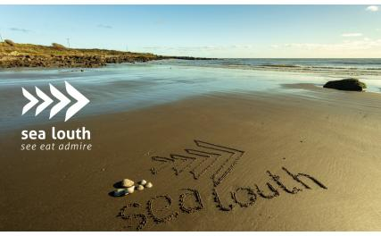sea louth written in sand