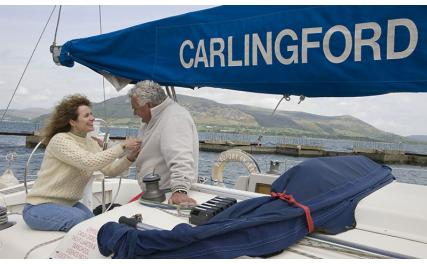 Carlingford Sailing - couple on yacht