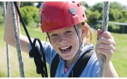 Carlingford Adventure Centre - climbing kid