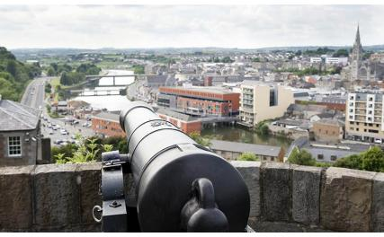 Cannons and view at Millmount Drogheda