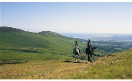 Ravensdale Lodge Equestrian - trekking through the mountains