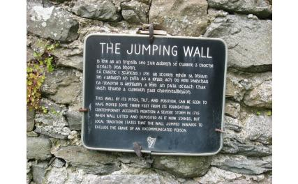 Jumping Church - plaque
